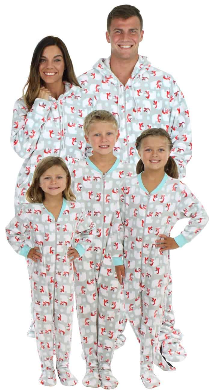 Christmas footie matching pajamas for the family