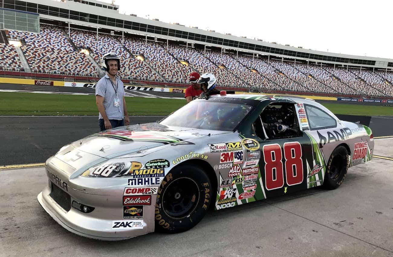 a real nascar ridealong at charlotte motor speedway with