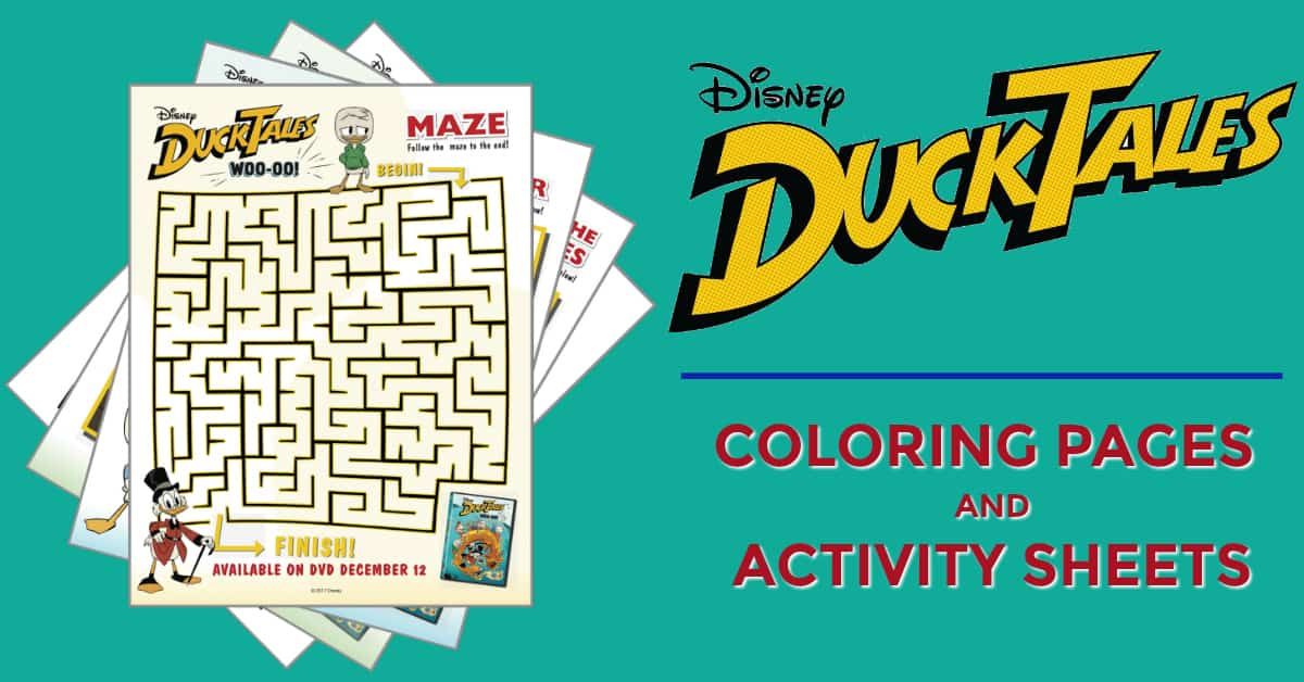 Duck Tales coloring pages activity sheets