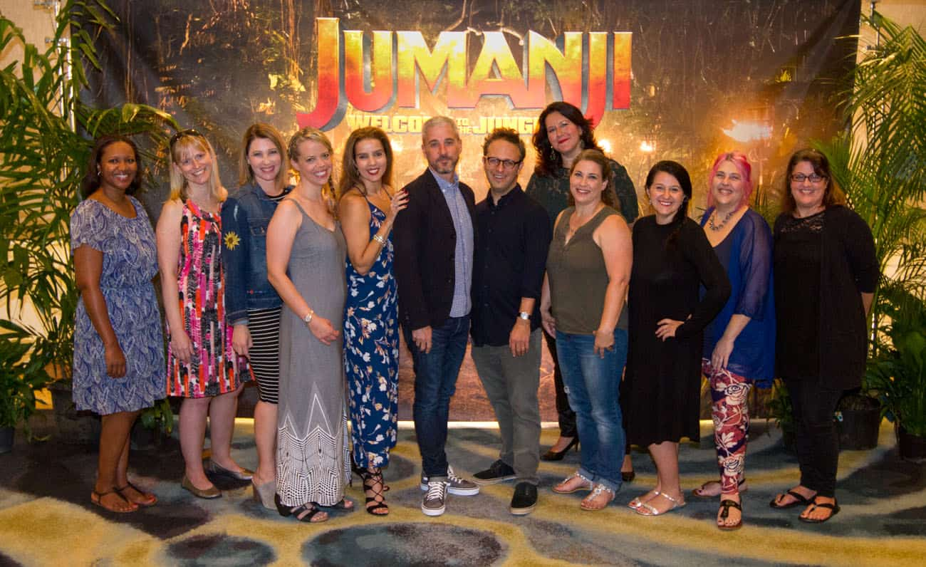 Jumanji press junket mom blogger