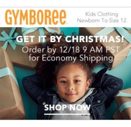 Gymboree Online Sale: Extra 20% off Purchase, Free Shipping Eligible! Cute Stocking Stuffers Starting Under $2!