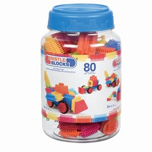 Save 59% on the Bristle Blocks Toy Building Blocks for Toddlers (80 Pieces in Jar), Free Shipping Eligible!