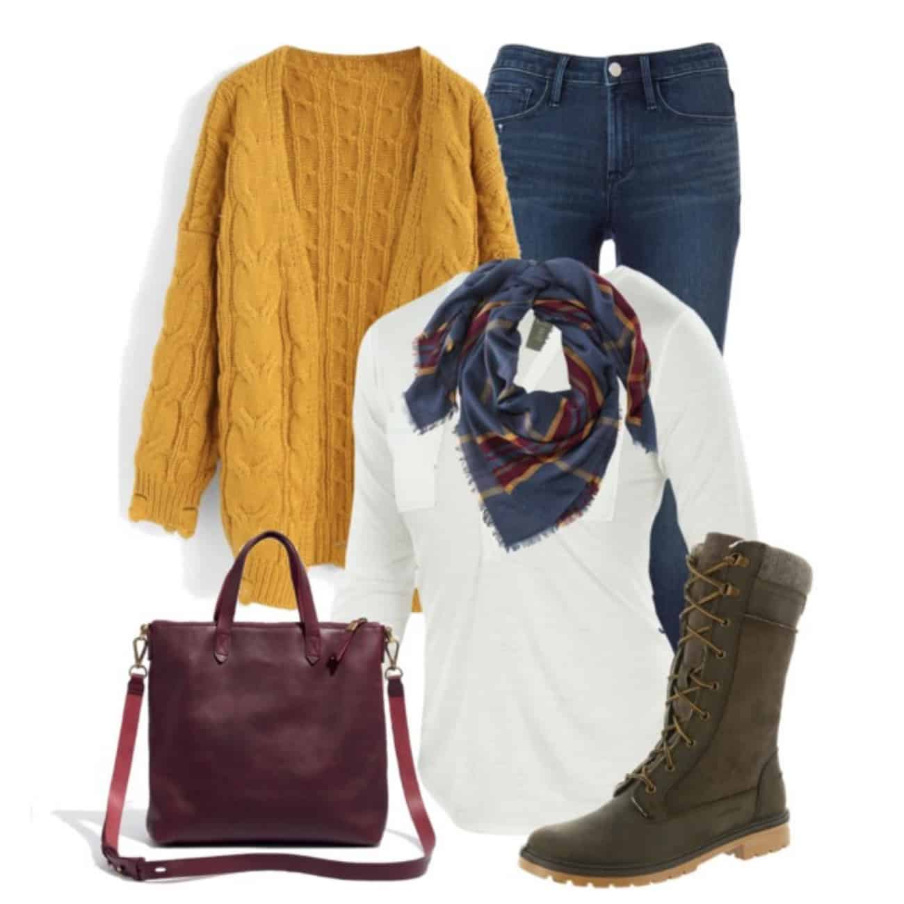cozy winter outfit for mom