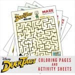 Free Printable DuckTales Coloring Pages and Activity Sheets!