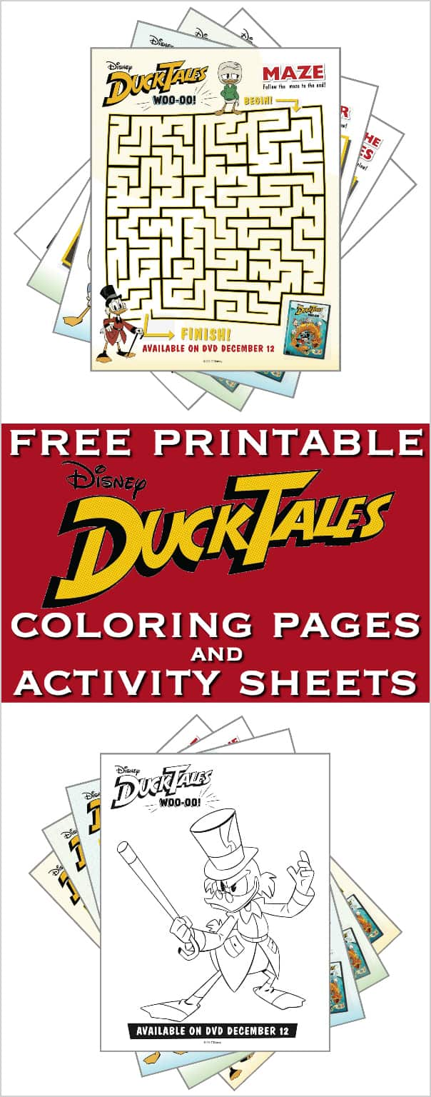 DuckTales Coloring Pages and Activity Sheets