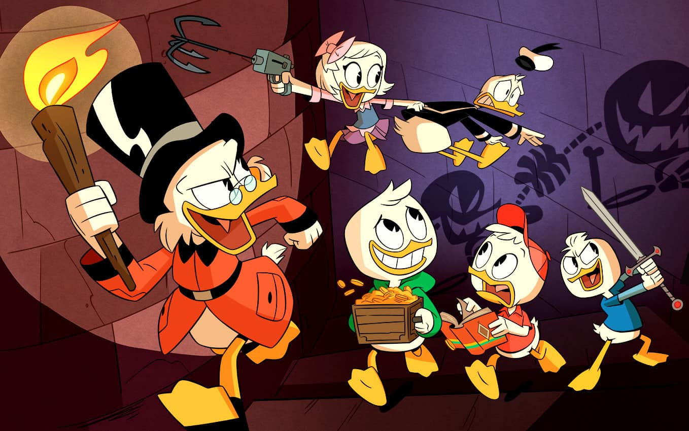Duck Tales coloring pages and activity sheets