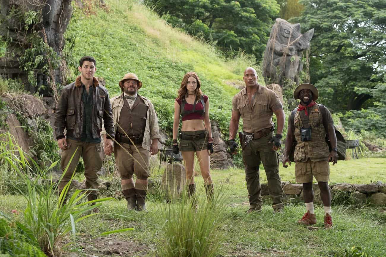Jumanji press junket interviews