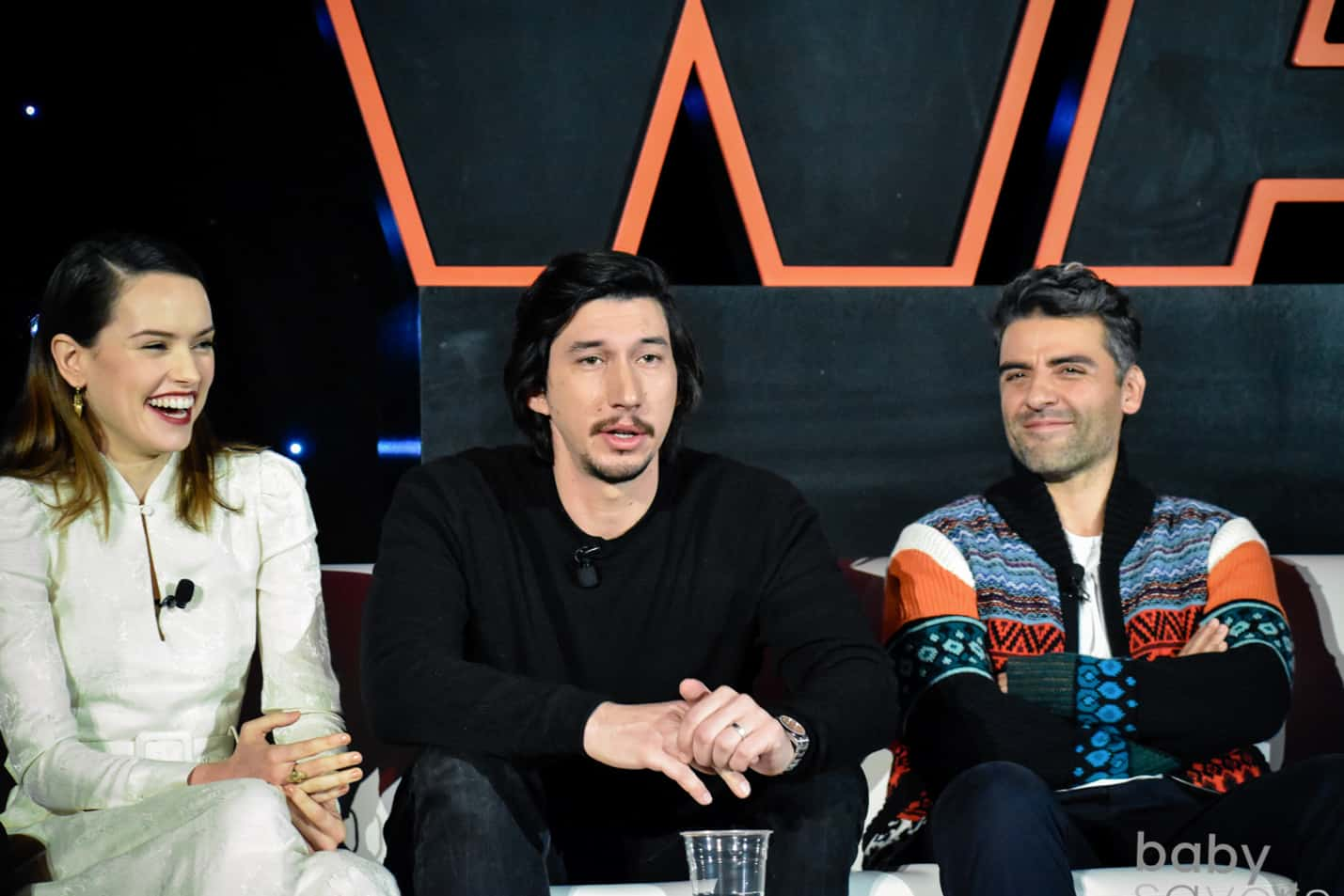 The Last Jedi press junket Daisy Ridley Adam Driver Oscar Issac