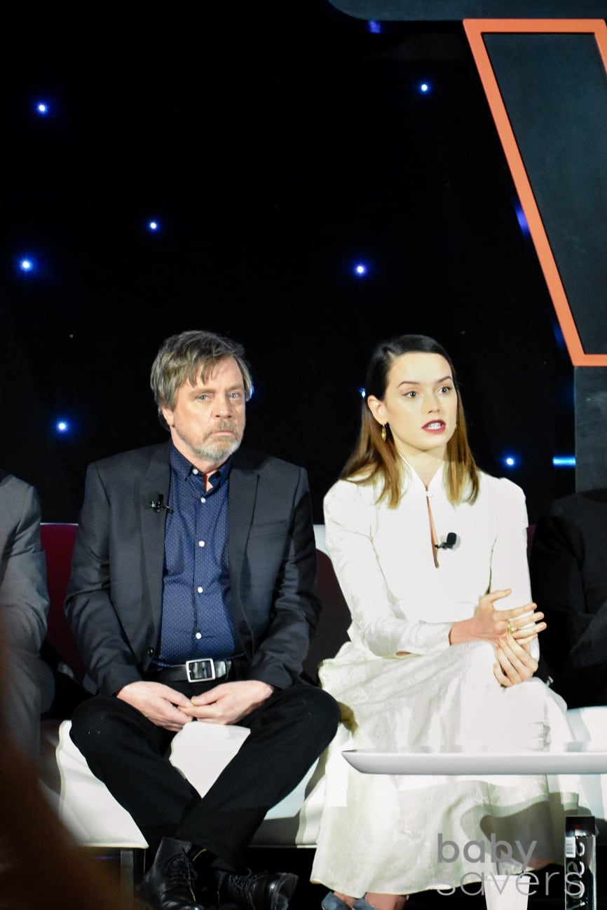 The Last Jedi press junket Mark Hamill Daisy Ridley