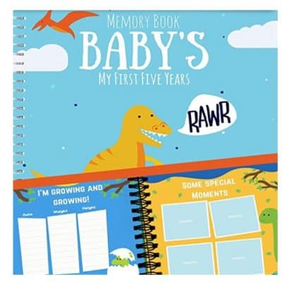 Save 57% on the Dinosaur Baby's First Five Years Memory Book, Free Shipping Eligible!