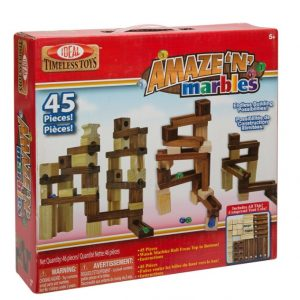 Save 47% on the Ideal Amaze 'N' Marbles 45 Piece Classic Wood Construction Set, Free Shipping Eligible!