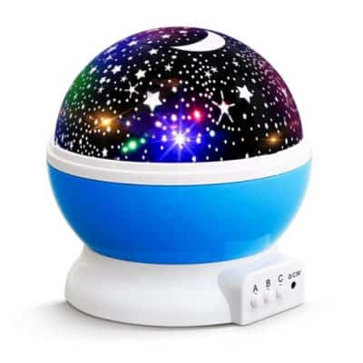 Save 58% on the Starry Night Light Rotating Moon Stars Projector, Free Shipping Eligible!