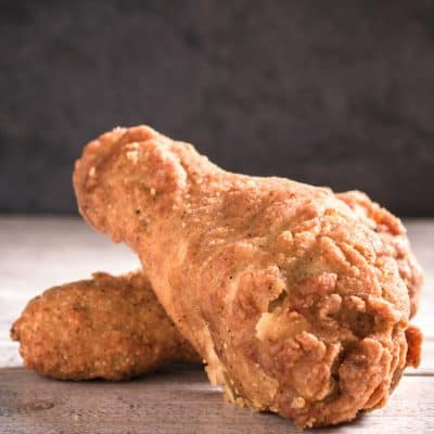 Drumsticks made with the KFC fried chicken recipe