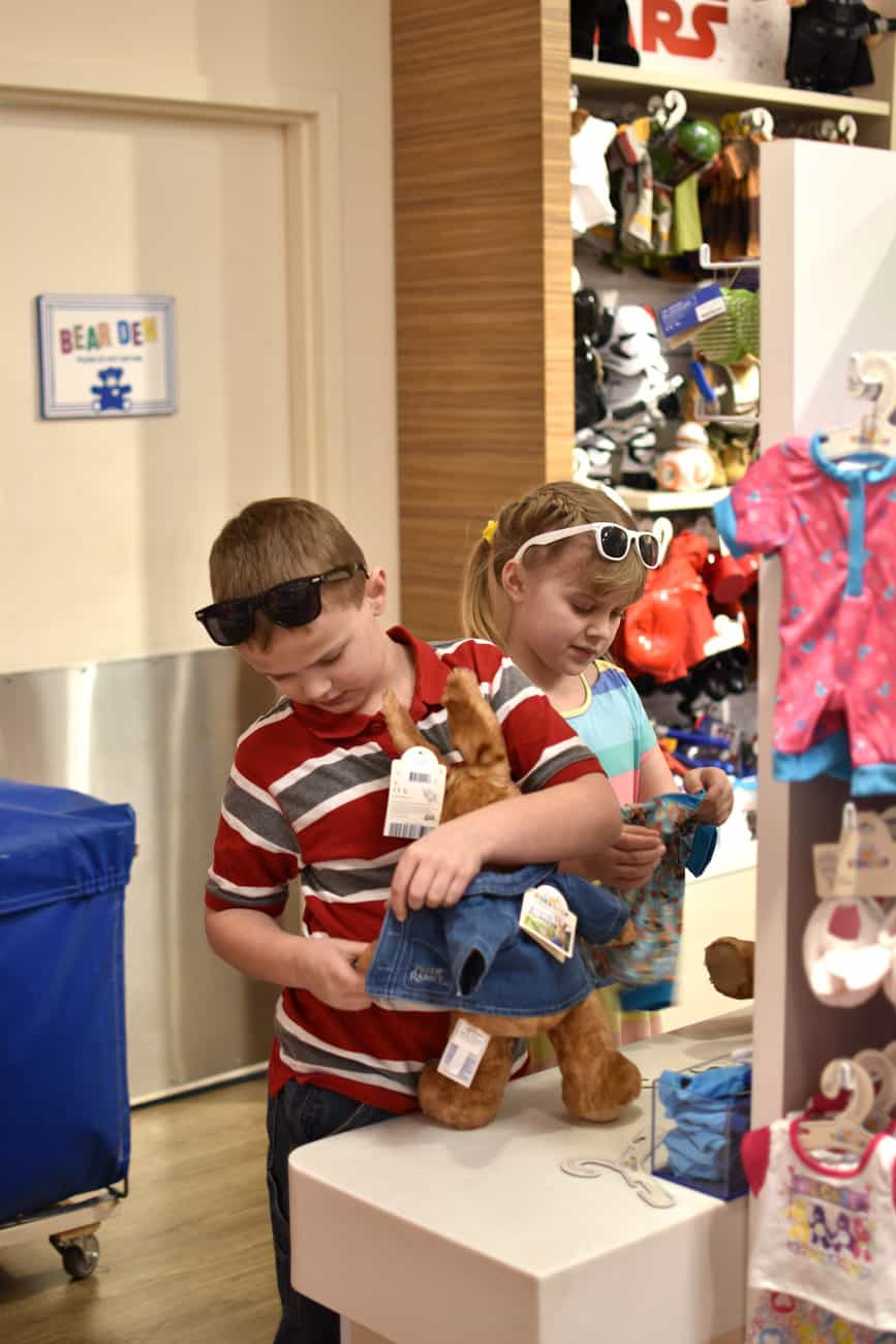 Peter Rabbit in blue jacket at Build-a-Bear Workshop