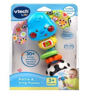Save 42% on the VTech Baby Rattle and Sing Puppy, Free Shipping Eligible!