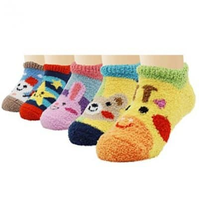 Save 65% on the 5 Pack Infants Anti Slip Skid Animal Socks, Free Shipping