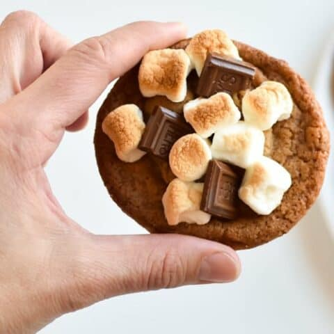 s'mores brown butter panbanging cookies