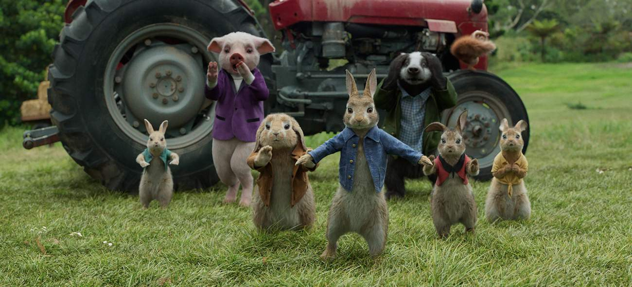 Animated animals in Peter Rabbit