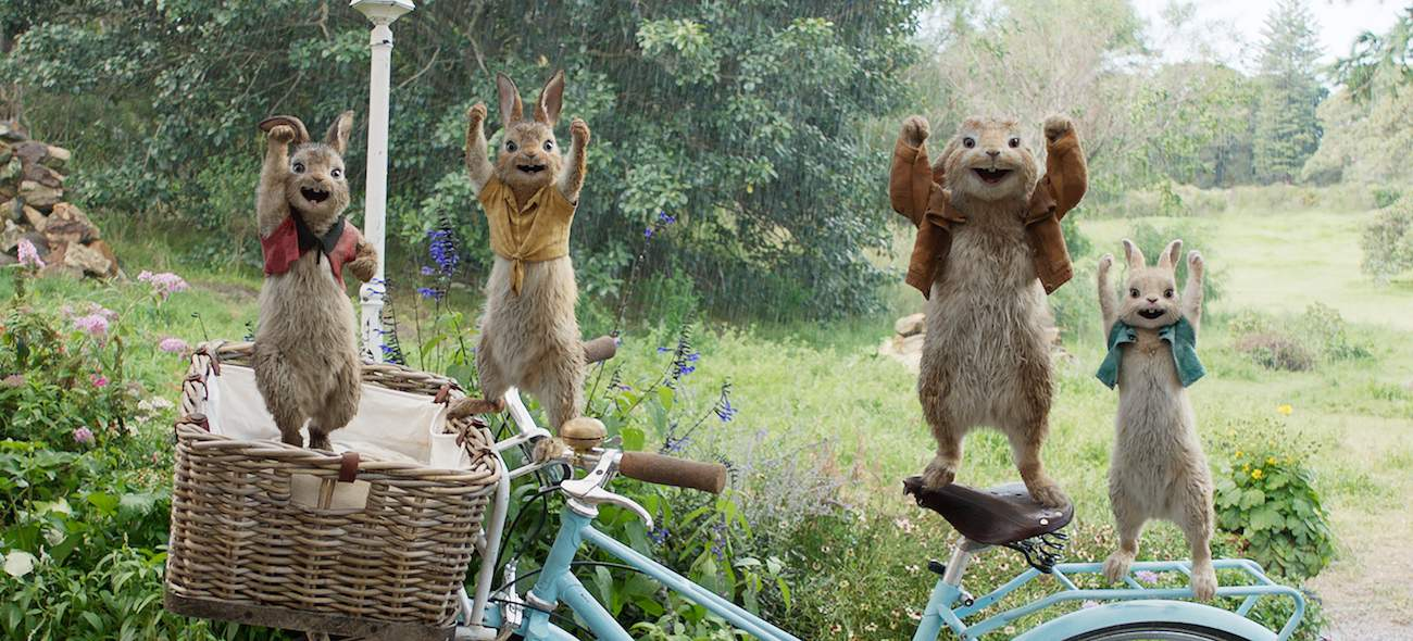 family in Peter Rabbit movie
