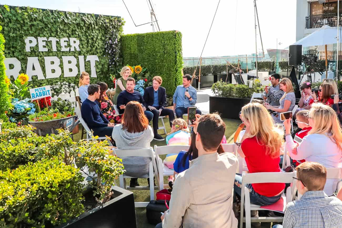 Peter Rabbit press conference with James Corden, Margot Robie and More