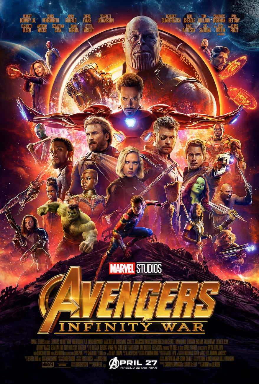 avengers infinity war poster with Tom Holland