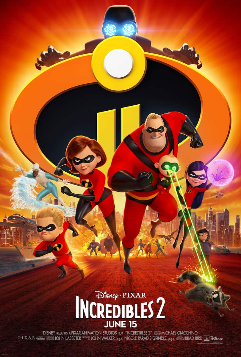 Incredibles 2 movie poster action shot