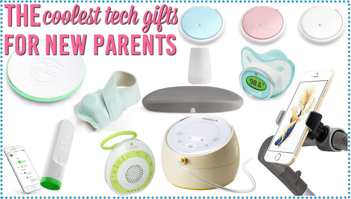 A variety of tech gift ideas for new parents