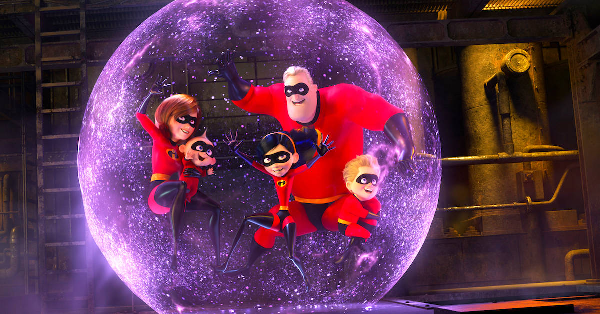 Incredibles 2 whole family in bubble