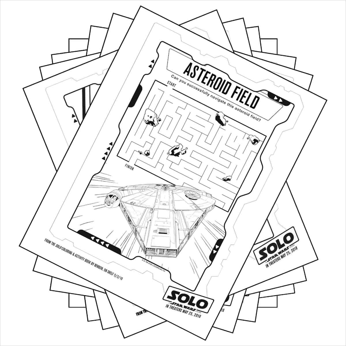Stack of Star Wars coloring pages