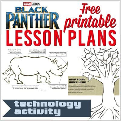 Superhero Lesson Plans: Free Printable Black Panther Lesson Plan