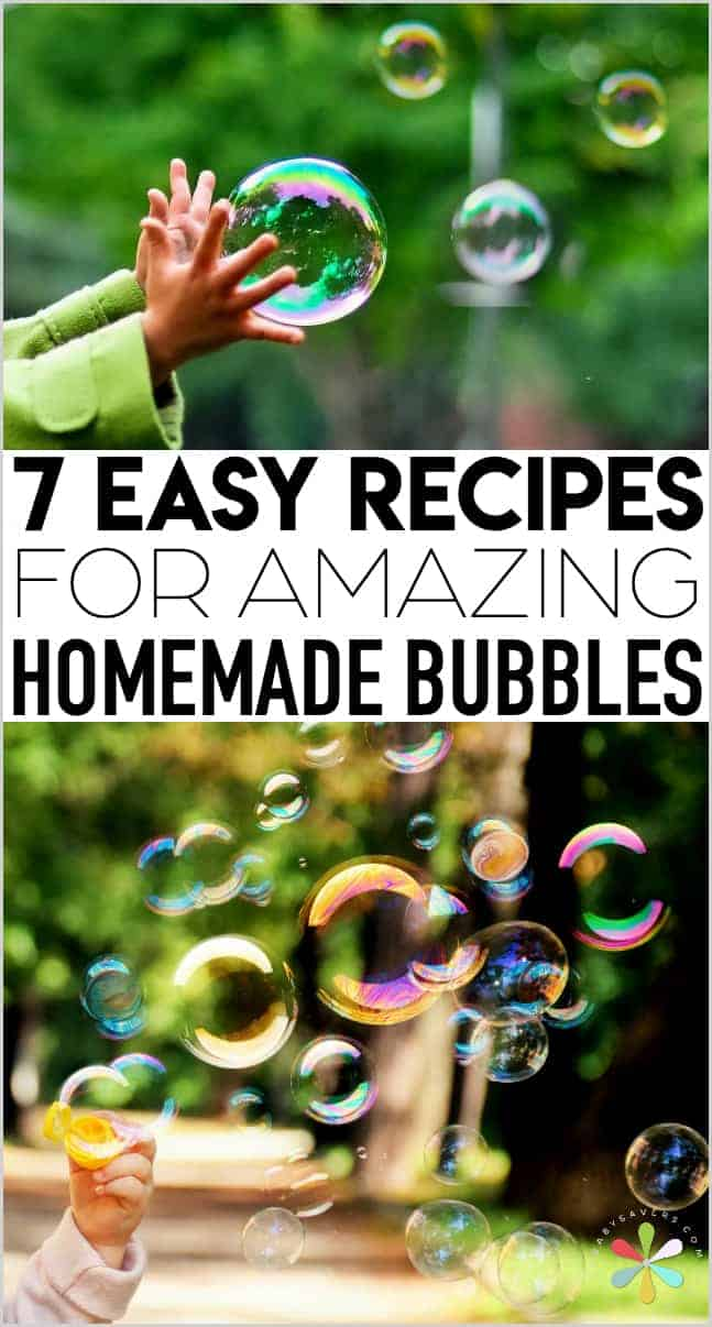 bubble recipe for homemade bubbles