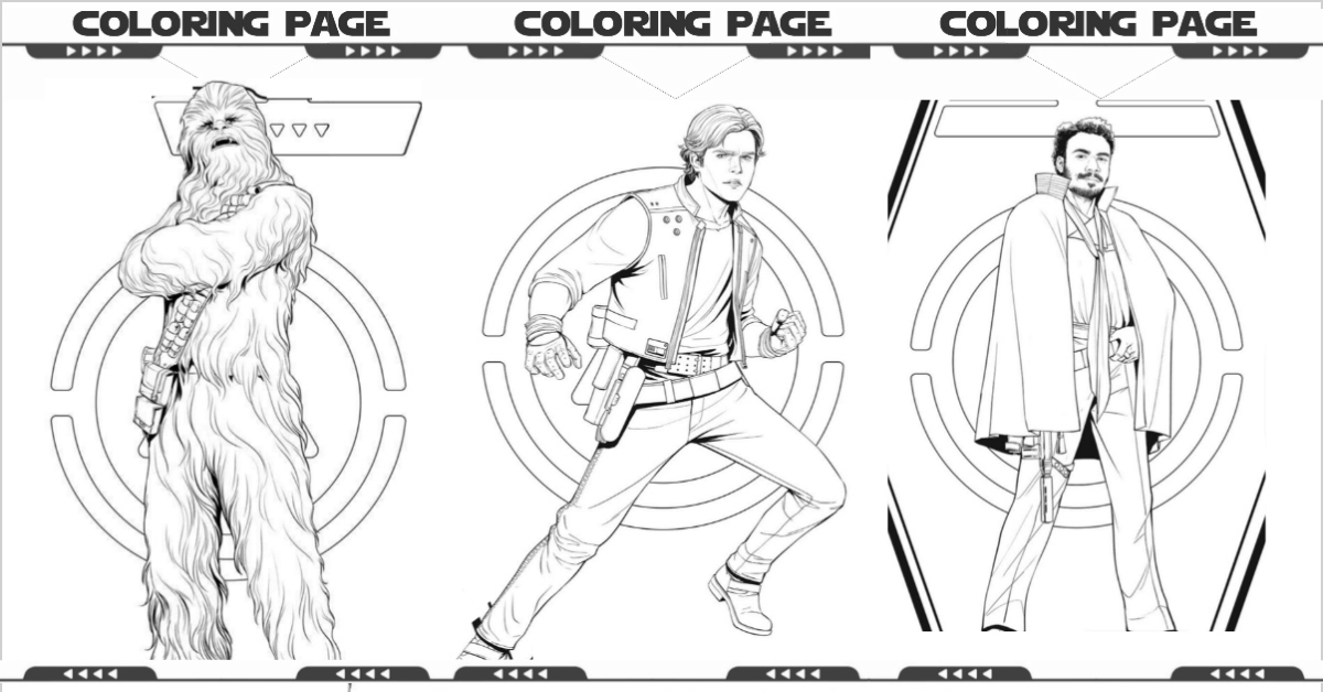Characters from Star Wars coloring pages