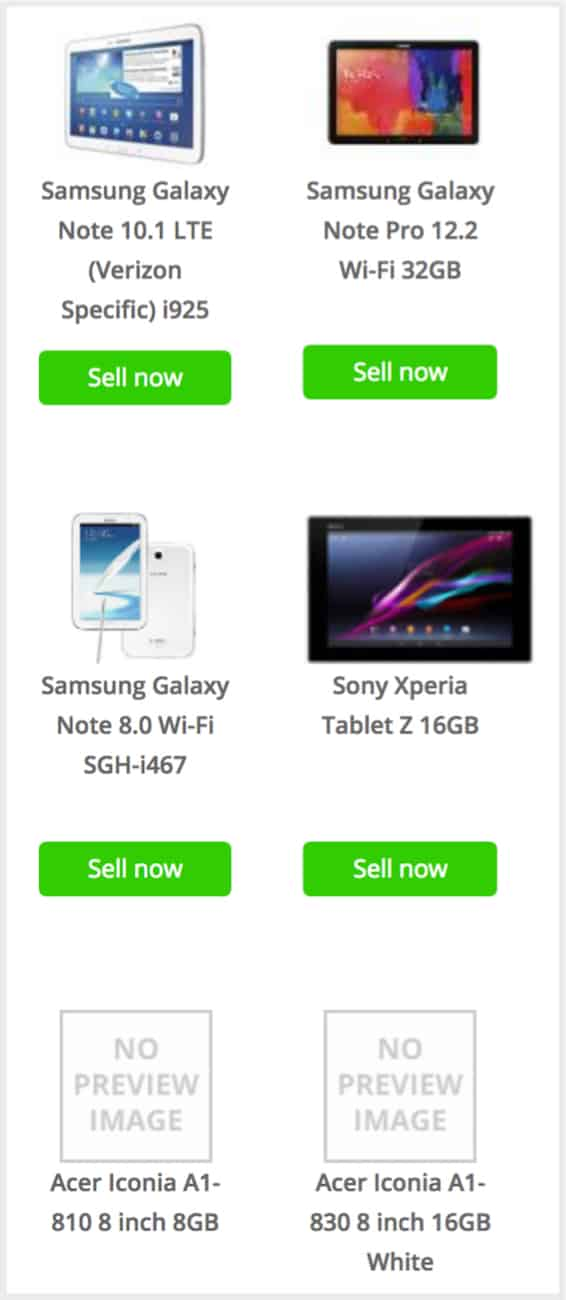 tablets to sell on decluttr