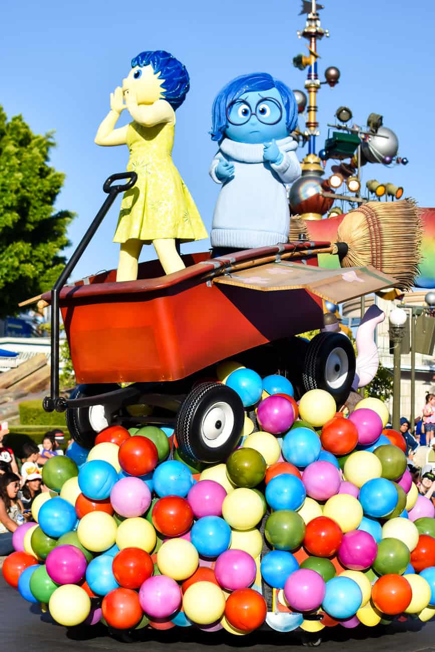 Pixarfest parade inside out
