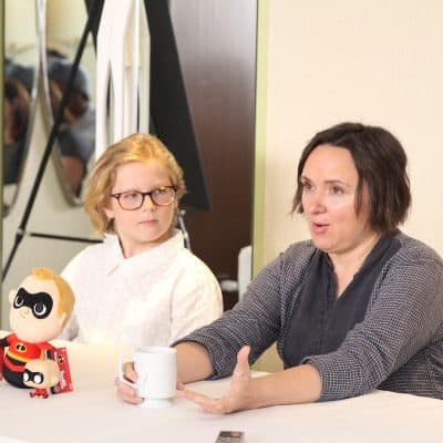 Sarah Vowell and Huck Milner on Voicing Dash and Violet in Incredibles 2 #Incredibles2Event #DisneyPartner