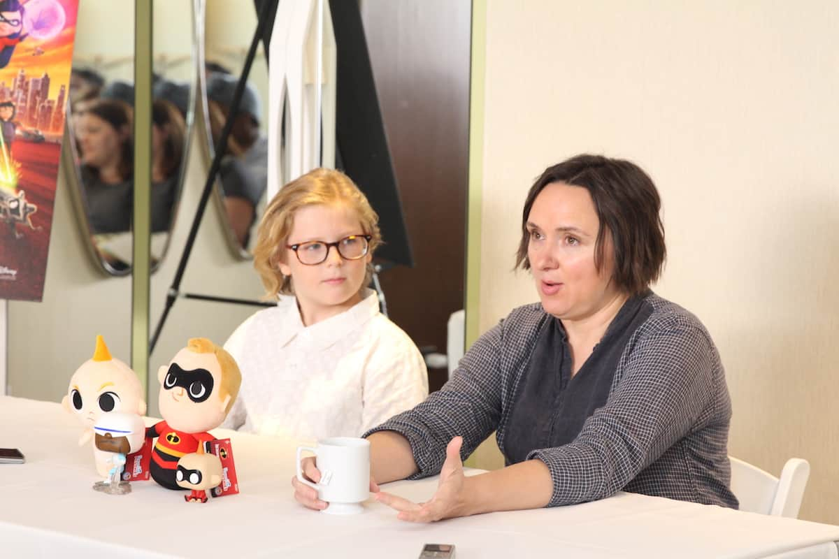 Incredibles 2 Sarah Vowell and Huck Milner