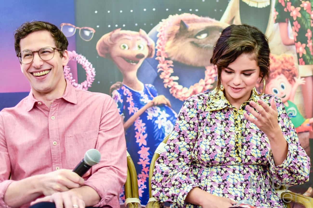 Hotel Transylvania 3 press conference Andy Samberg Selena Gomez