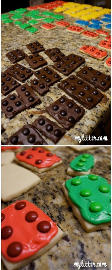 lego cookies with icing
