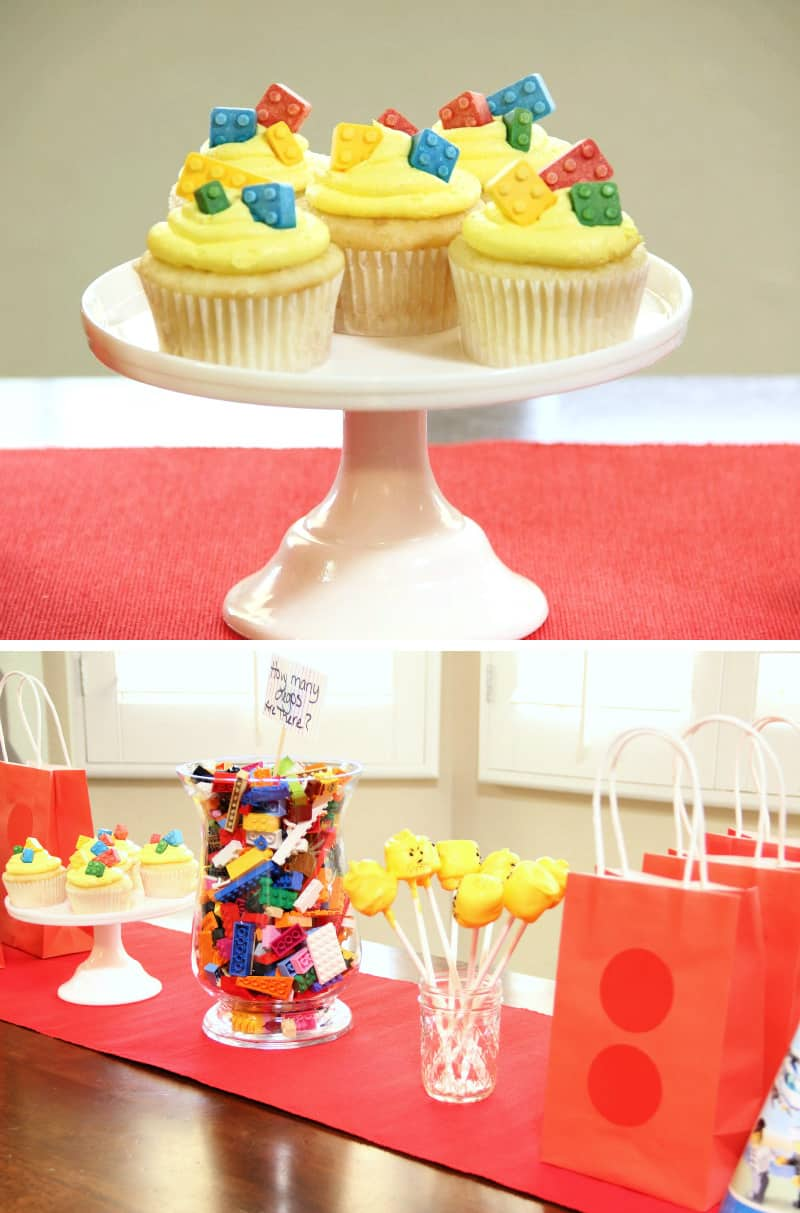 lego cupcakes for birthday party