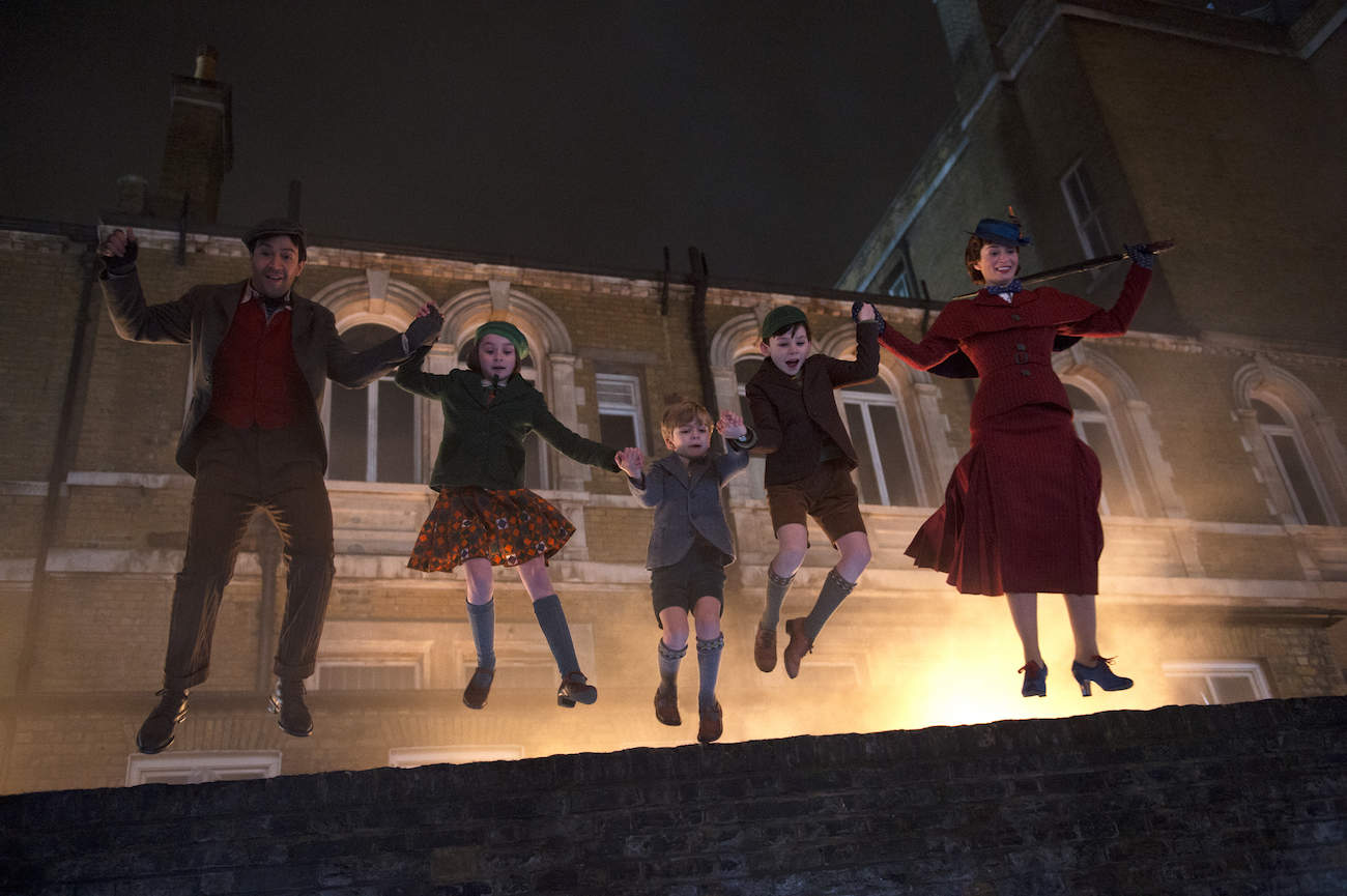 Jumping scene Mary Poppins Returns
