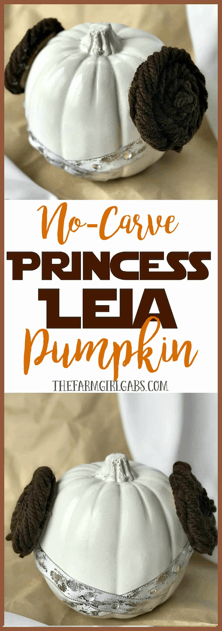Princess Leia Star Wars painted pumpkin