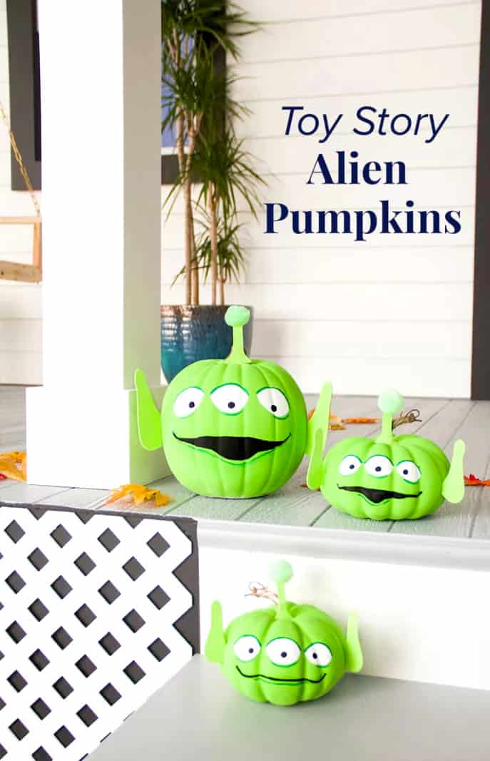 painted pumpkin ideas - disney aliens