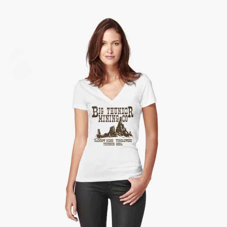 Big Thunder Mountain Railroad Disneyland Shirts