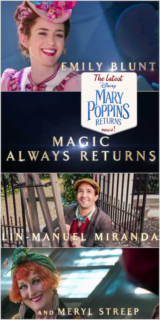 Mary Poppins Returns Trailer, Images and News about the movie!