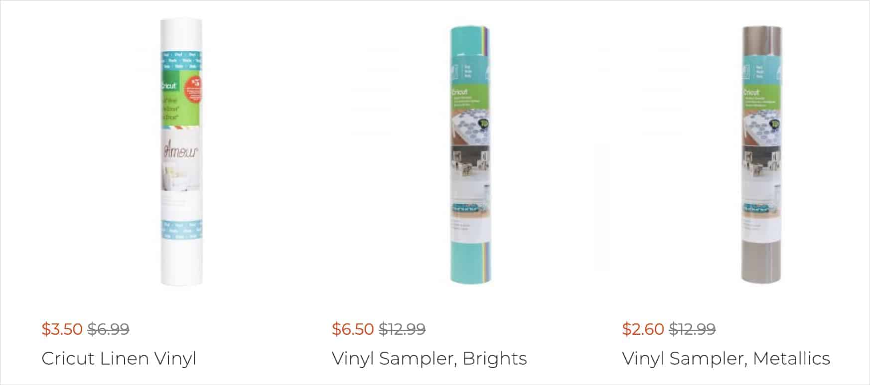 Cricut Cyber Monday Deals on Vinyl