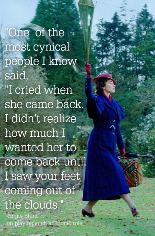 Emily Blunt Mary Poppins Returns quote