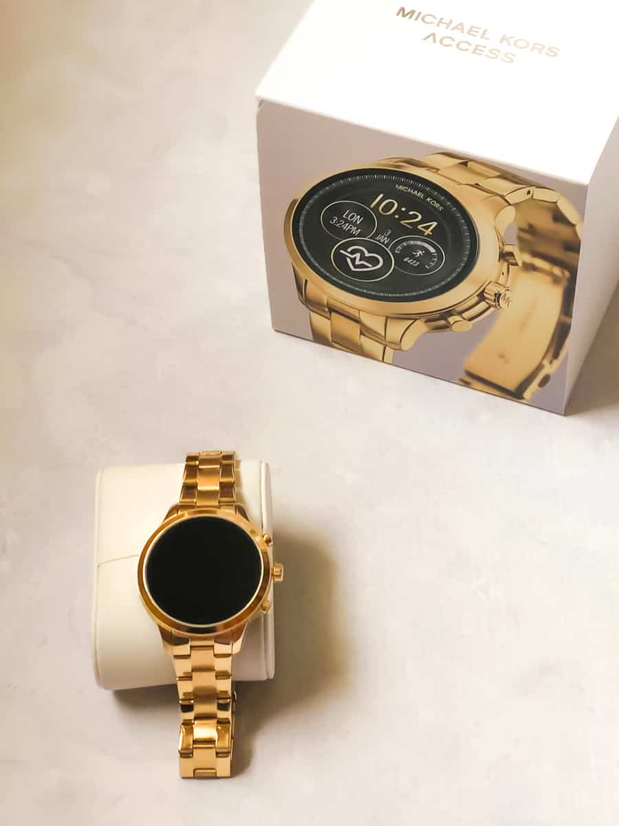 new Michael Kors Access Runway watch in gold
