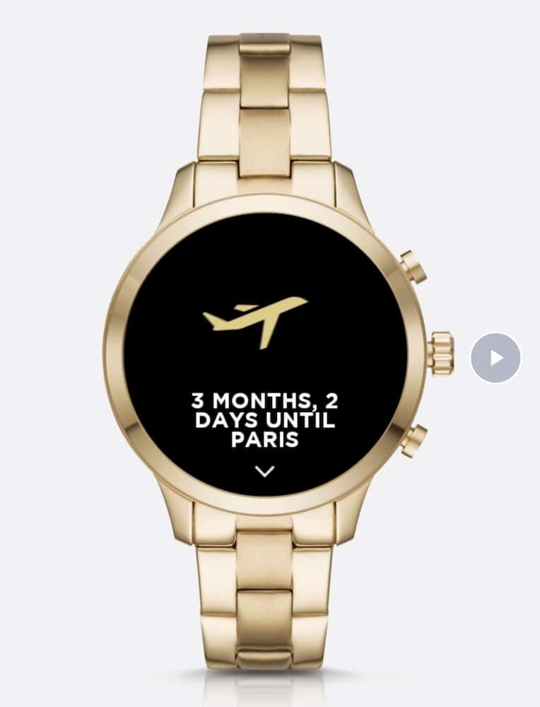 Michael Kors Access Runway Smartwatch reminder screen