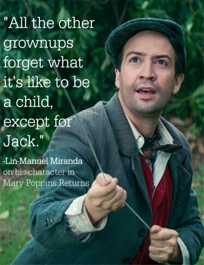 Lin-Manuel Miranda as Jack in Mary Poppins Returns
