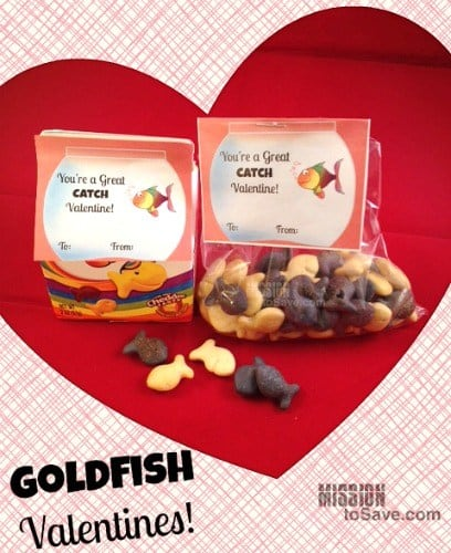 Valentine crafts for kids goldfish valentines